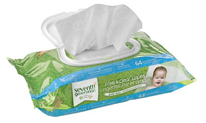 Free And Clear Baby Wipes In Resealable Box Produced By Seventh Generation - Baby Wipes, Transparent background PNG HD thumbnail