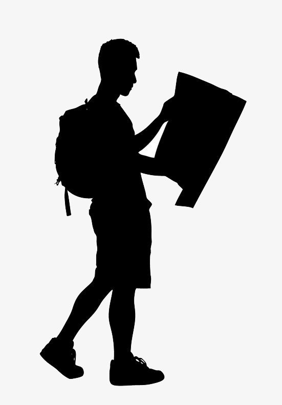 Travelers Silhouette Png Material, Traveler, Backpackers, Silhouette Free Png Image - Backpacker Vector, Transparent background PNG HD thumbnail