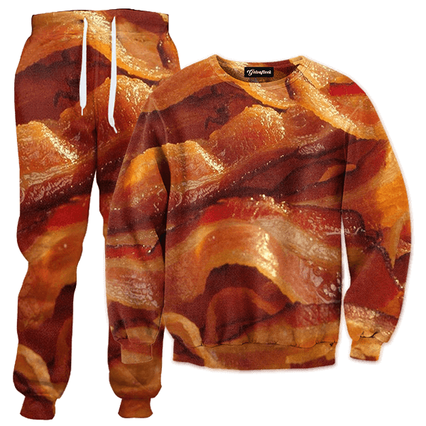Bacon Strips Crewneck - Bacon Strips, Transparent background PNG HD thumbnail