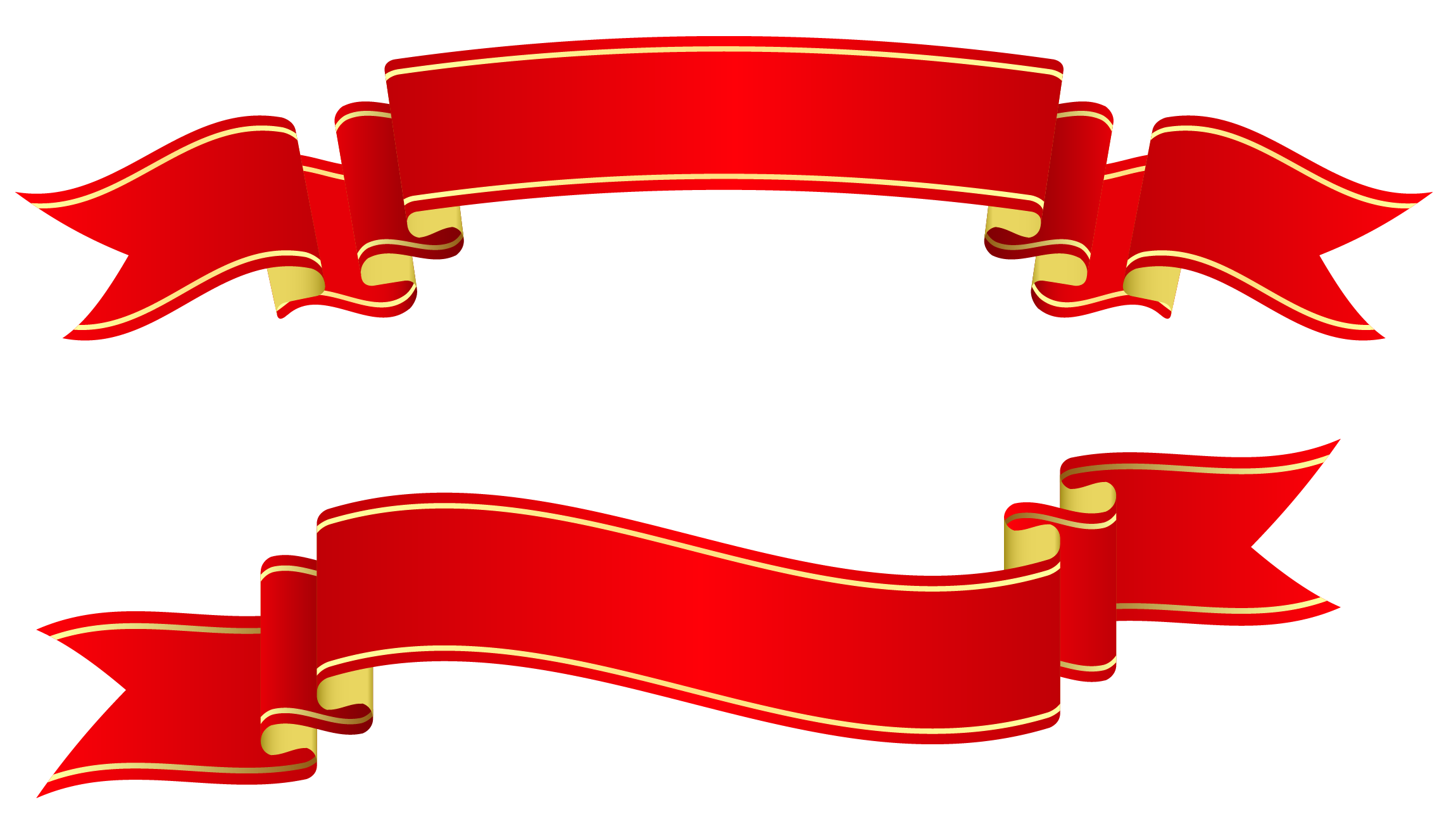 Banner Ribbon Png Red Banners Png Clipart Image #809 - Ribbon, Transparent background PNG HD thumbnail