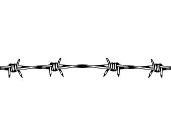 Barbed Wire #4 Circular Barb Fence Fencing Jail Western Ranch .svg .eps Instant - Barbed Wire, Transparent background PNG HD thumbnail