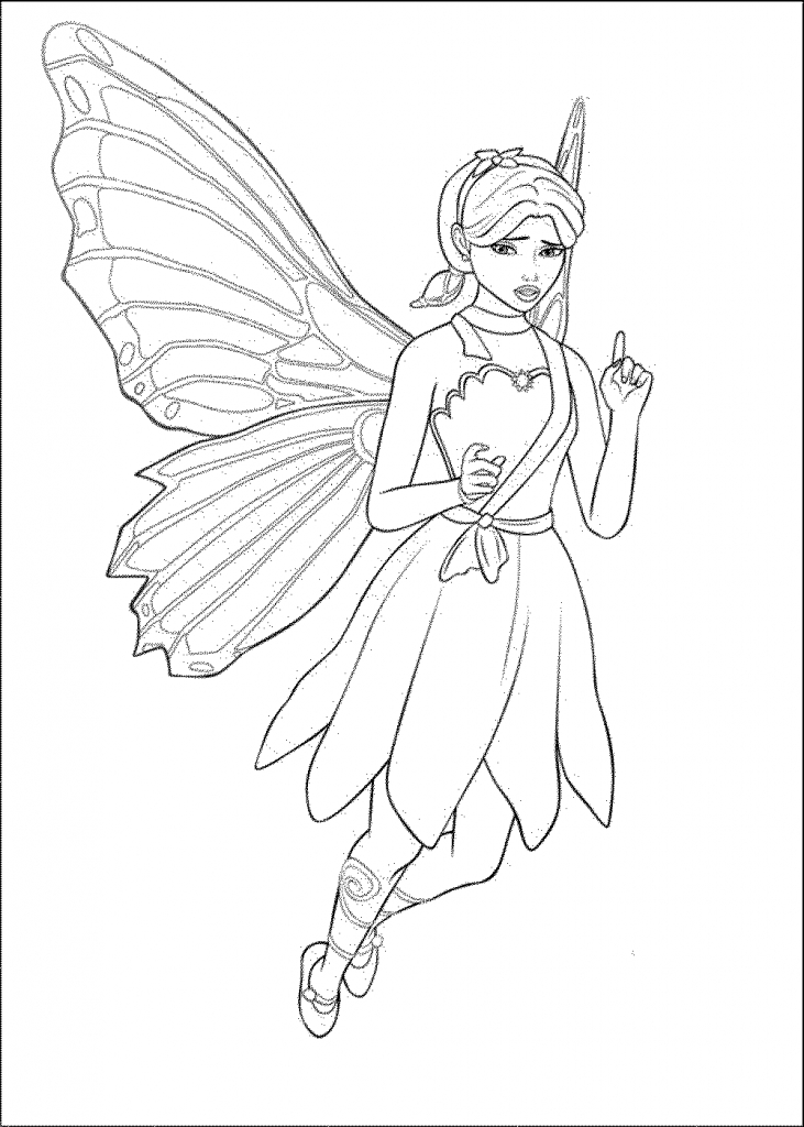 Barbie Doll Drawing Pictures Barbie Doll Coloring Pages For Kids Az Coloring Pages - Barbie Doll Black And White, Transparent background PNG HD thumbnail