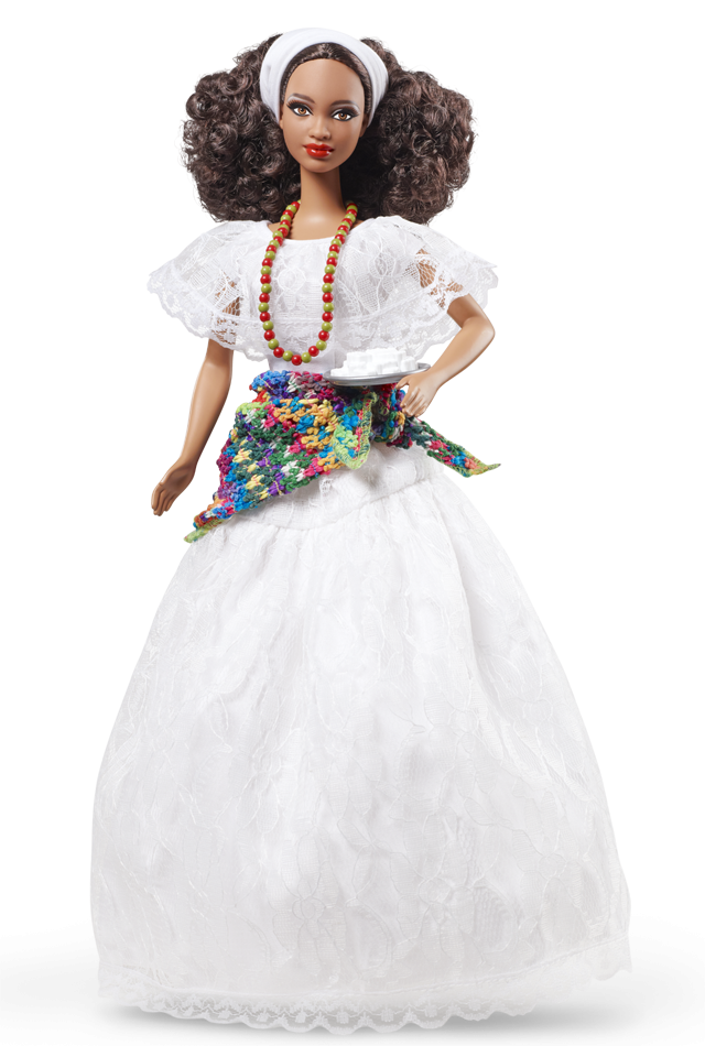 Brazil Barbie Doll Joins The Party In A Beautiful White Lace Festival - Barbie Doll Black And White, Transparent background PNG HD thumbnail