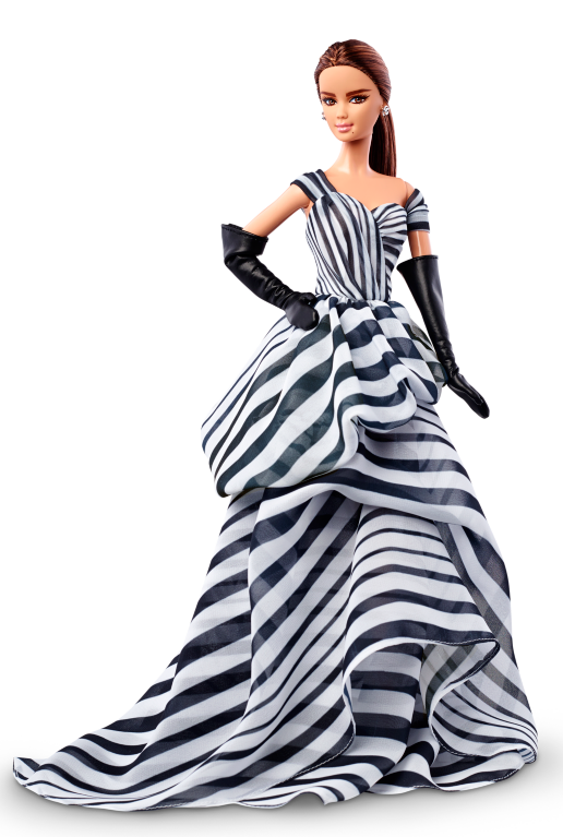 Chiffon Ball Gown Barbie Doll - Barbie Doll Black And White, Transparent background PNG HD thumbnail