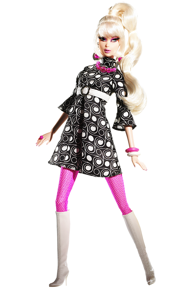 Pop Life™ Barbie® Doll Pop Culture Dolls   View Collectible Barbie Dolls From Pop Culture Collections - Barbie Doll Black And White, Transparent background PNG HD thumbnail