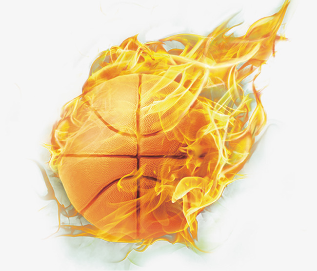 Basketball On Fire PNG
