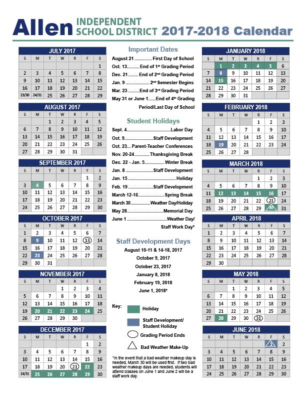 2017 2018 Calendar - Beginning Of School Year, Transparent background PNG HD thumbnail