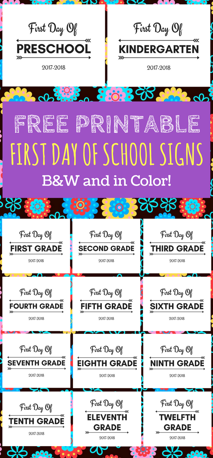 First Day Of School Printable Free 2017 2018 School Year - Beginning Of School Year, Transparent background PNG HD thumbnail