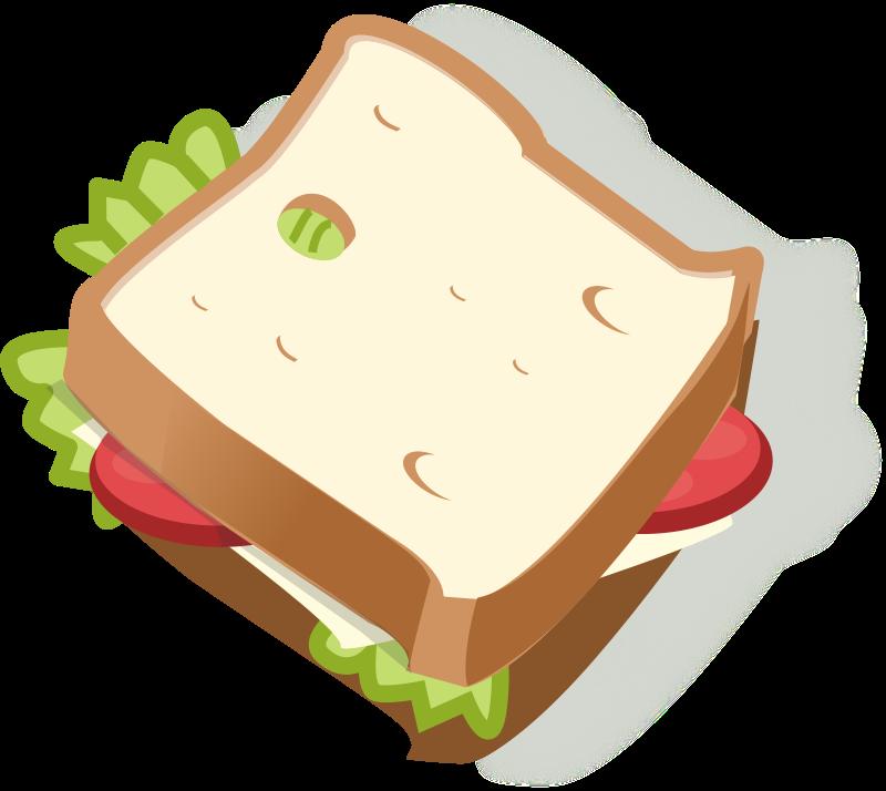 Belegtes Brot Clipart - Belegtes Brot, Transparent background PNG HD thumbnail