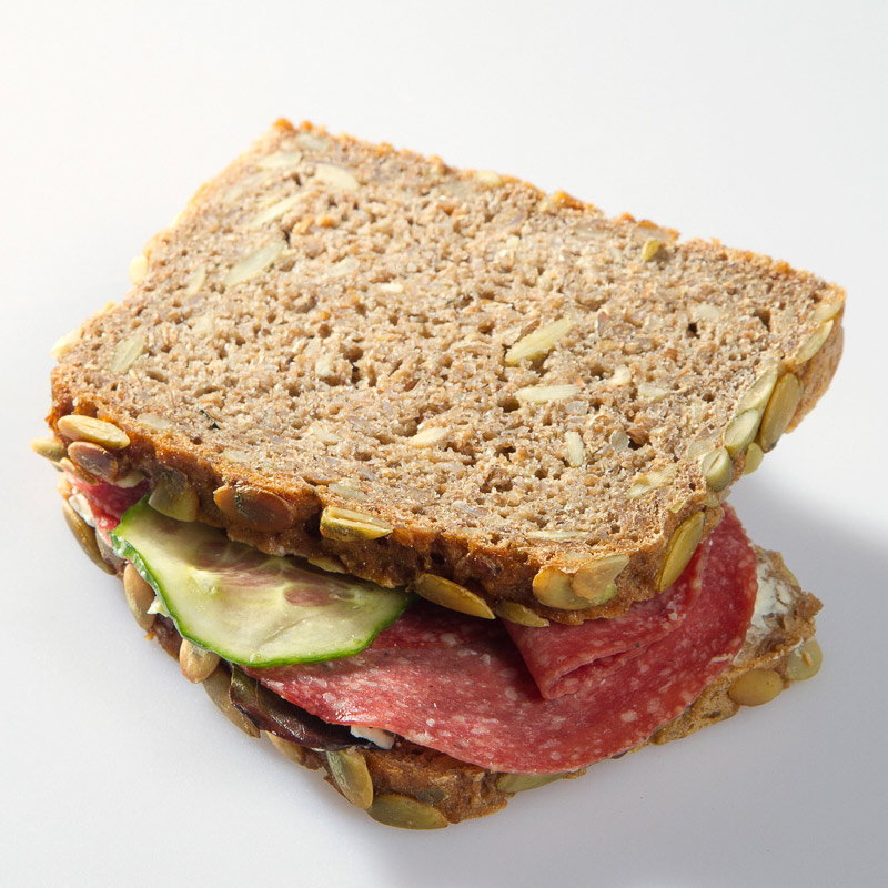 Belegtes Brot Mit Salami - Belegtes Brot, Transparent background PNG HD thumbnail