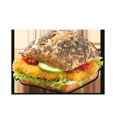 Chiabrötchen Gemüseschnitzel Vegan - Belegtes Brot, Transparent background PNG HD thumbnail