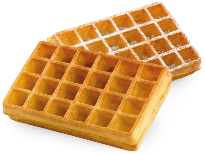 Waffle 6X4.png - Belgian Waffles, Transparent background PNG HD thumbnail