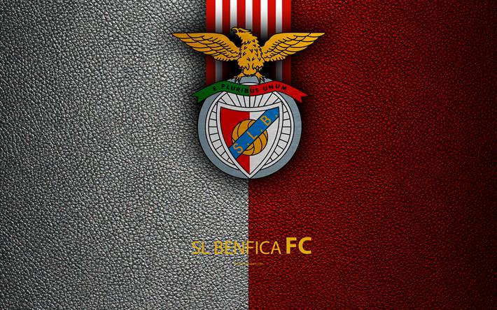 Sl Benfica, Fc, 4K, Deri Dokusu, Bağlantı Nos, Ilk Lig, - Benfica Fc, Transparent background PNG HD thumbnail