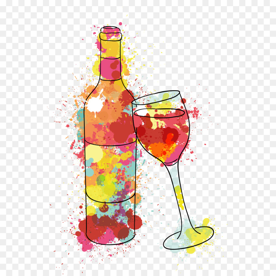 Birthday Wine Png - Birthday Wish Wine Name Day Happiness   Painted Wine And Water Glasses Vector, Transparent background PNG HD thumbnail