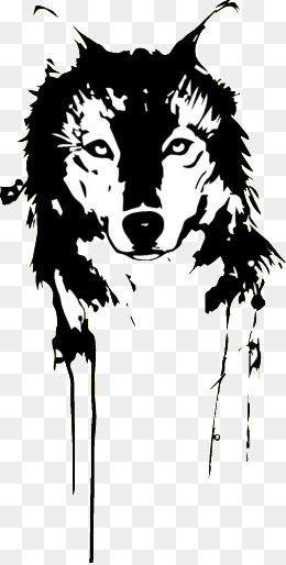 Black Wolf, Black, Wolf, Tattoo Png Image And Clipart - Black And White Wolf, Transparent background PNG HD thumbnail