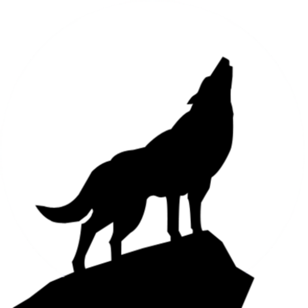 Free Clip Art Wolves | Wolf Silhouette Psd Image   Vector Clip Art Online, Royalty - Black And White Wolf, Transparent background PNG HD thumbnail