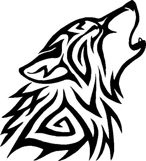 Tribal Wolf Png - Black And White Wolf, Transparent background PNG HD thumbnail