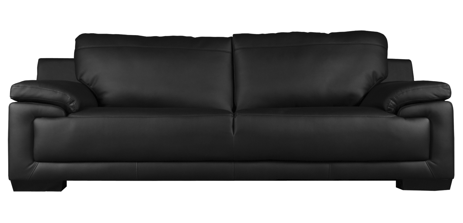 Black Sofa Png Image - Sofa, Transparent background PNG HD thumbnail