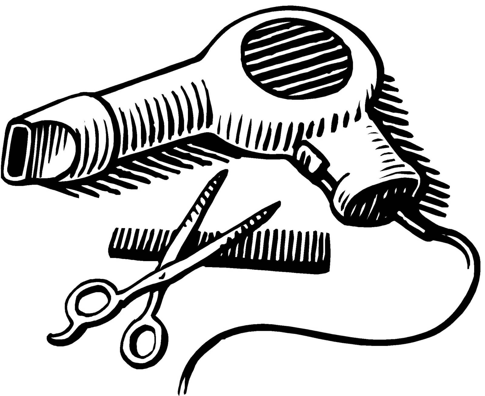 Blow Dryer And Scissors PNG