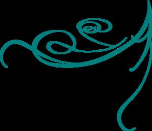 Blue Decorative Swirl Clip Art - Decorative Line Blue, Transparent background PNG HD thumbnail