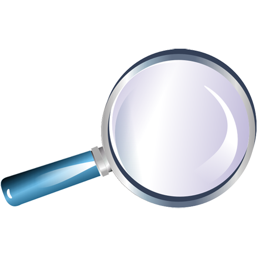 Blue Magnifying Glass Icon Png - Loupe, Transparent background PNG HD thumbnail
