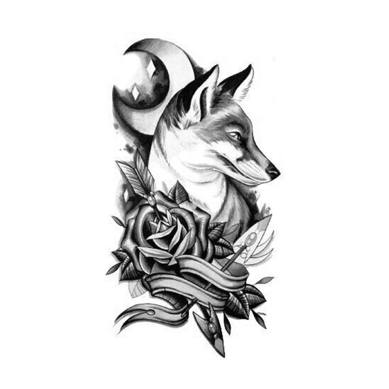 . Hdpng.com Body Art Temporary Removable Tattoo Stickers Wolf 3 Sticker Tattoo - Body Art, Transparent background PNG HD thumbnail