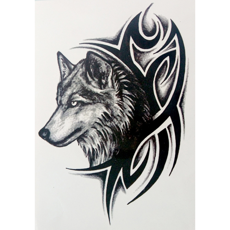 . Hdpng.com Body Art Temporary Removable Tattoo Stickers Wolf Lhx 36 Sticker Tattoo - Body Art, Transparent background PNG HD thumbnail