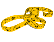 Body Measuring Tape - Body Tape Measure, Transparent background PNG HD thumbnail