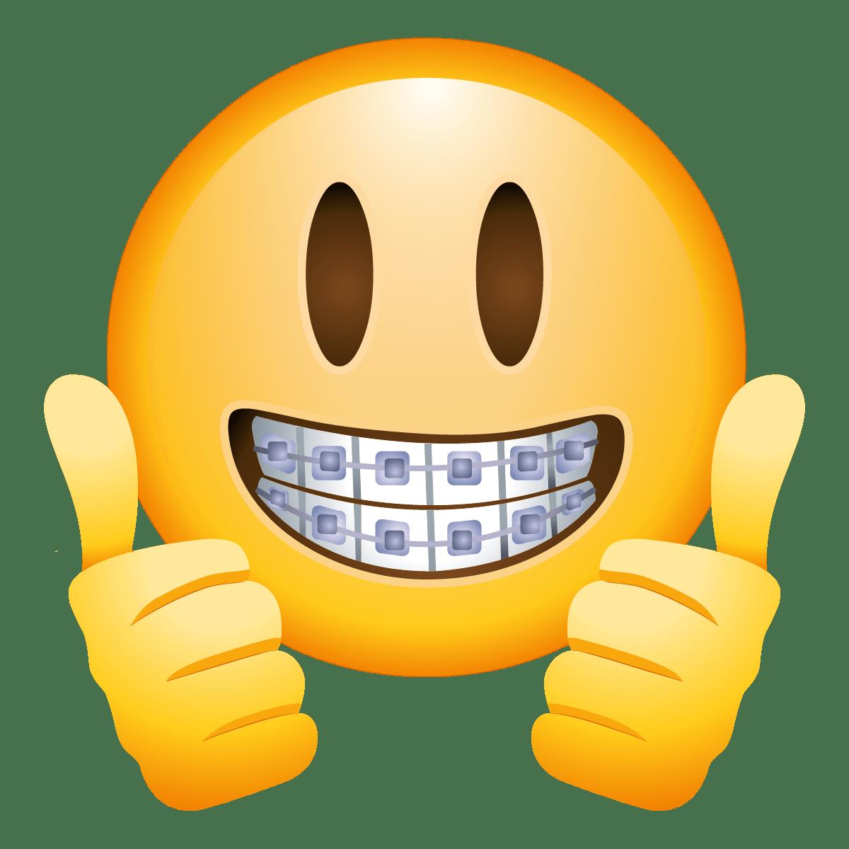 Braces Face Emoji - Emoji, Transparent background PNG HD thumbnail
