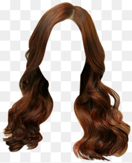 Brown Hair Clip, Wig, Female Hair, Front Wigs Material Png Image - Brown Wig, Transparent background PNG HD thumbnail