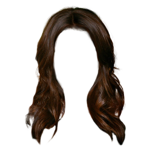Hairstyle888.png (489×623) ❤ Liked On Polyvore Featuring Beauty Products, - Brown Wig, Transparent background PNG HD thumbnail