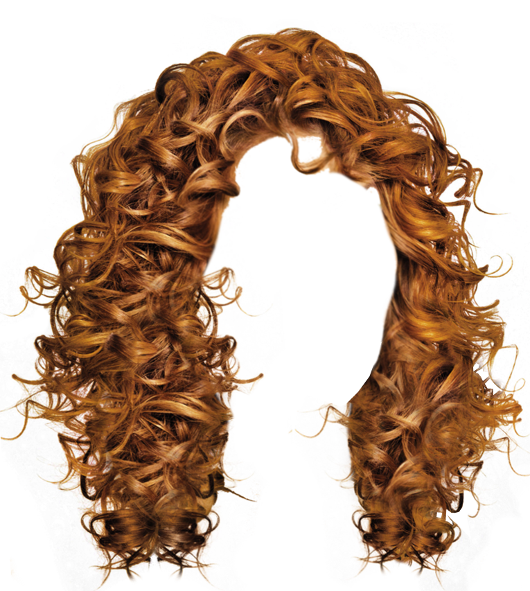 . Hdpng.com Long Brown Curly Hair Transparent Image - Brown Wig, Transparent background PNG HD thumbnail