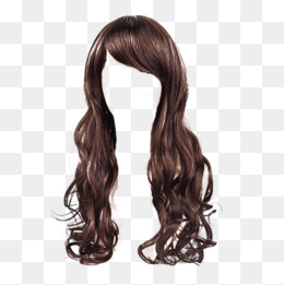 Long Style Wig, Big Wave, Silk, Product Kind Png Image - Brown Wig, Transparent background PNG HD thumbnail