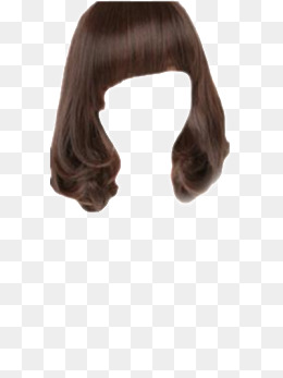 Wig, Girls, Long Hair, Curls Png Image - Brown Wig, Transparent background PNG HD thumbnail