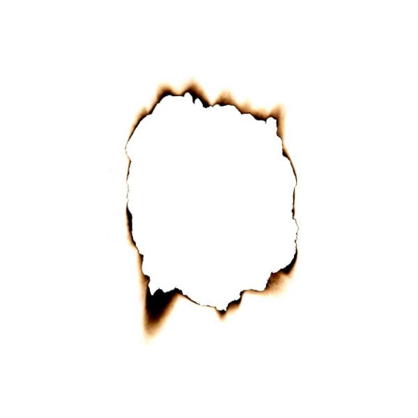 Hole Burnt In Paper Psd67001.png ❤ Liked On Polyvore Featuring - Burnt Paper, Transparent background PNG HD thumbnail