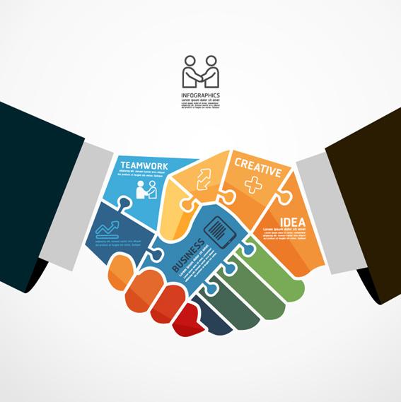 Business Teamwork Creative Infographics Vector - Teamwork, Transparent background PNG HD thumbnail