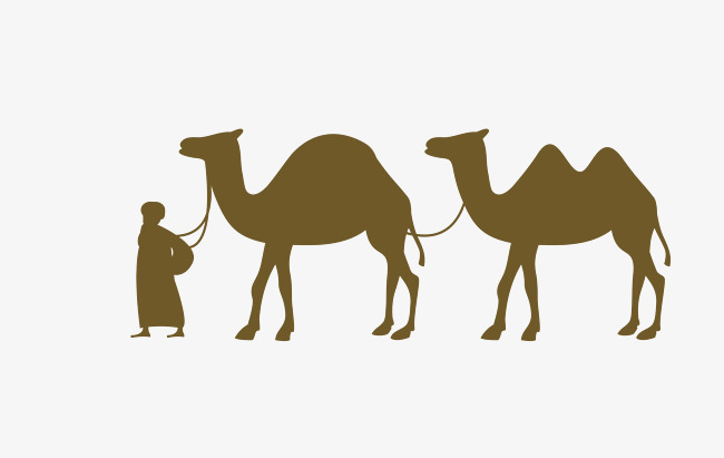 Camels In The Desert Png - Vector Gray Camel Desert Elements, Vector Camel, Gray Camel, Desert Elements Png And, Transparent background PNG HD thumbnail