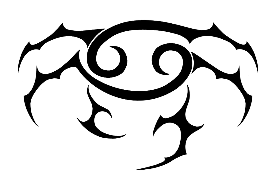 . Hdpng.com Cancer Zodiac Tattoo Ideas 9 Nice Black Cancer Zodiac Tattoo Design.png Hdpng.com  - Zodiac Tattoos, Transparent background PNG HD thumbnail
