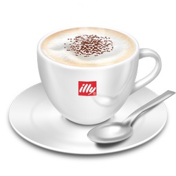 128X128 Px, Cappuccino Illy Icon 256X256 Png - Cappuccino Cup, Transparent background PNG HD thumbnail