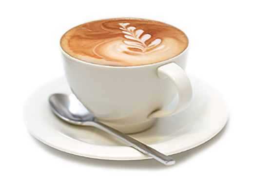 Picture Of A Cup Of Annu0027S Bakery Cappuccino On A Saucer With Spoon. - Cappuccino Cup, Transparent background PNG HD thumbnail