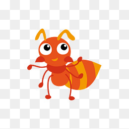 Cartoon Ant Png - Orange Ants, Orange, Yellow, Ant Png And Vector, Transparent background PNG HD thumbnail