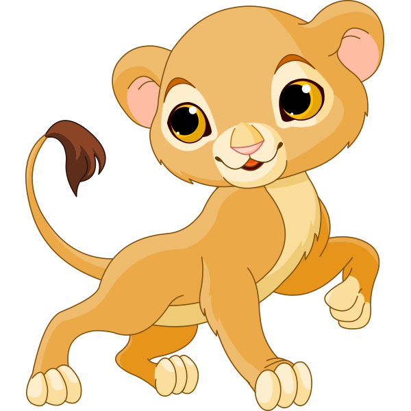 Cartoon Lion Cub PNG