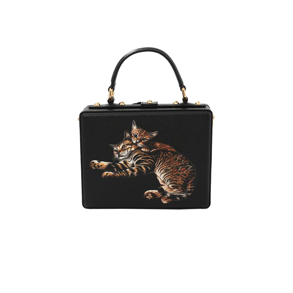 Du0026G Cat Print Box Bag | Marissa Collections - Cat In A Bag, Transparent background PNG HD thumbnail