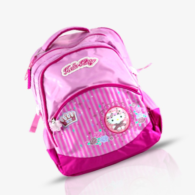 Kitty Cat Pink Bag, Kitty Cat, Pink, School Bag Png Image And Clipart - Cat In A Bag, Transparent background PNG HD thumbnail