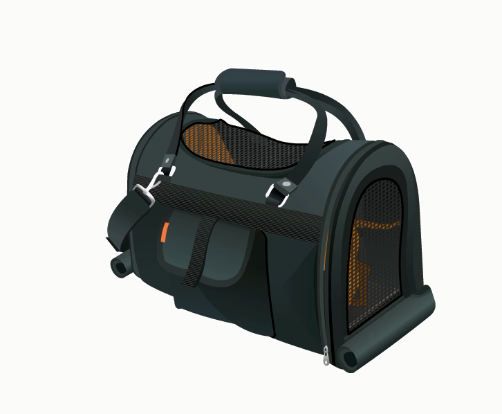 . Hdpng.com Pet Carrier With Screen Top - Cat In A Bag, Transparent background PNG HD thumbnail