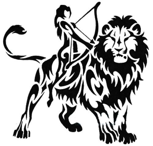 Celtic Lion Tattoo Designs | Tribal Lion Tattoos Designs 02 1 - Zodiac Tattoos, Transparent background PNG HD thumbnail