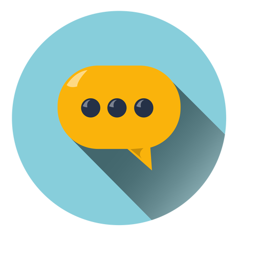 Chat Cloud Circle Icon - Chat, Transparent background PNG HD thumbnail