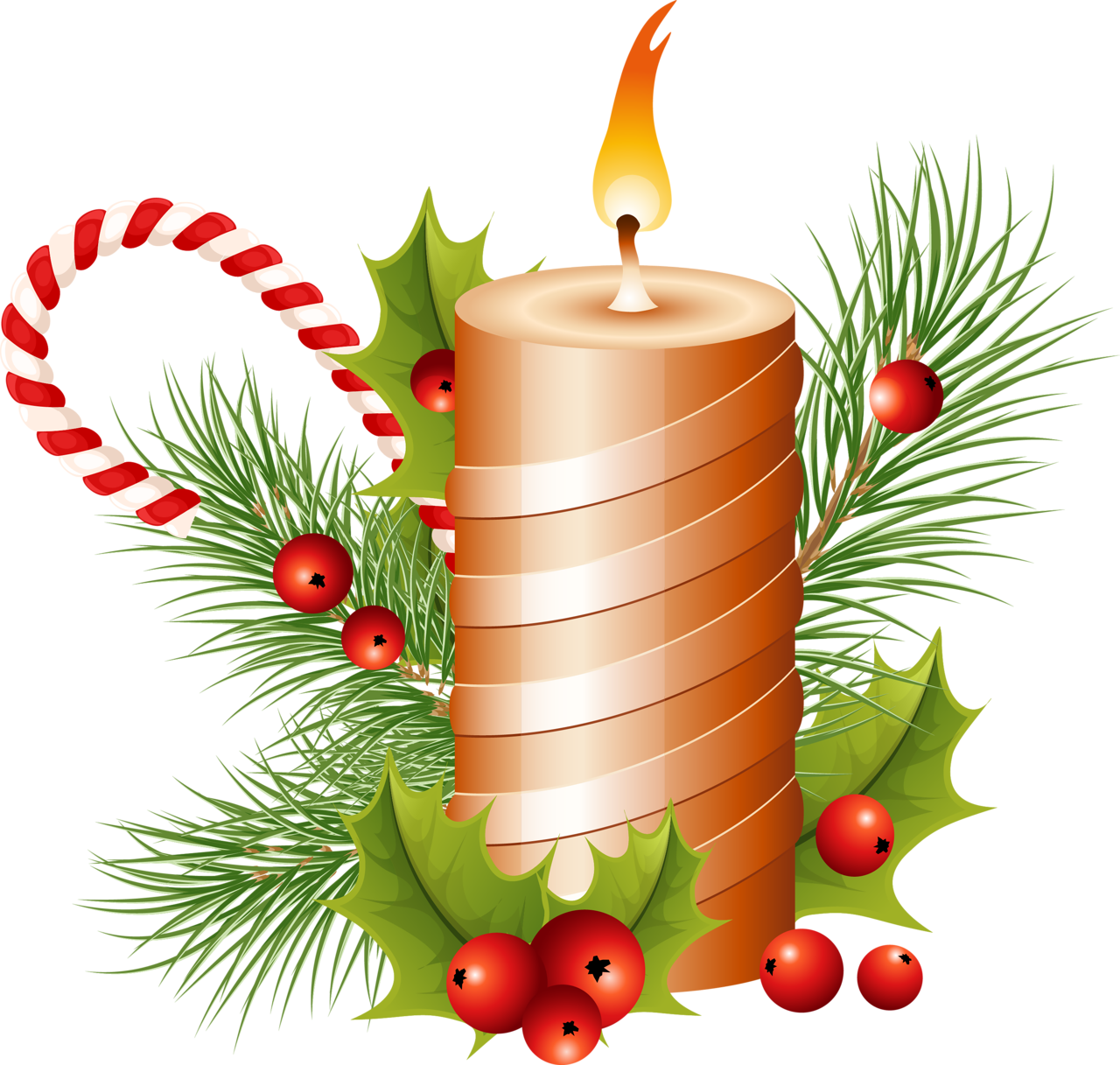 Christmas Candle Png Image - Candle, Transparent background PNG HD thumbnail