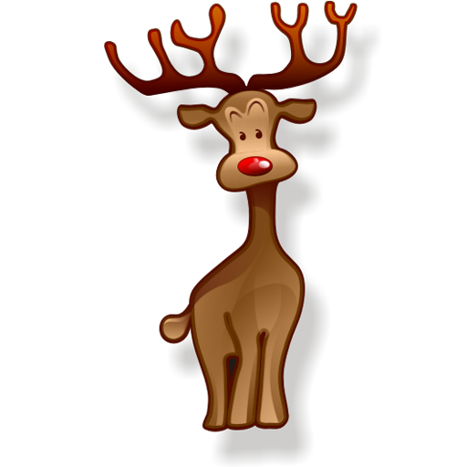 Christmas Reindeer Icon Image #34797 - Reindeer, Transparent background PNG HD thumbnail