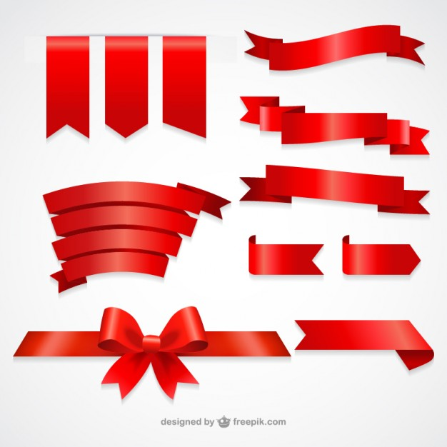 Collection Of Red Ribbons - Ribbon, Transparent background PNG HD thumbnail